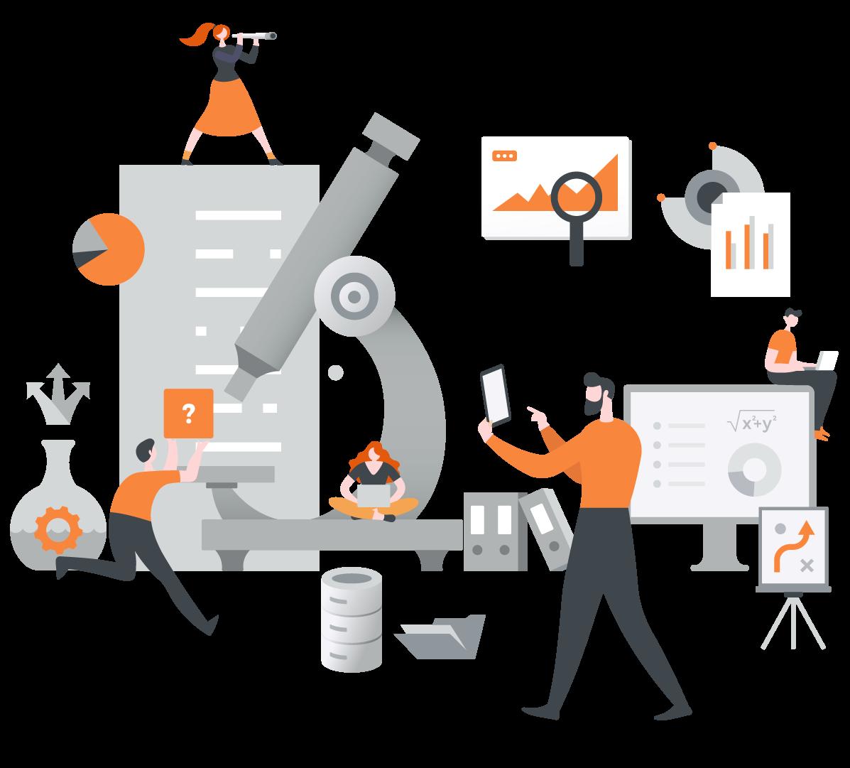 Infografía soluciones de negocio