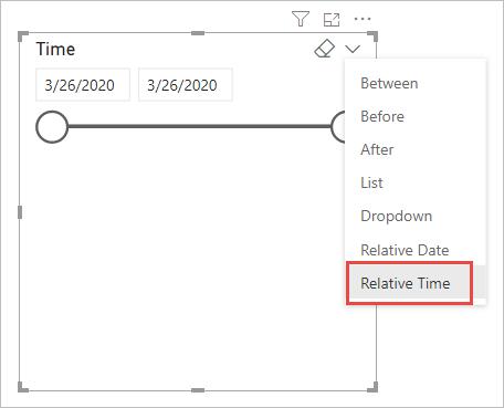 Power Bi filtro de tiempo relativo