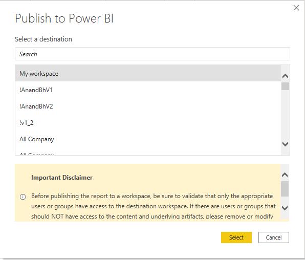 Power BI Dic20 Mensaje de publicación personalizado