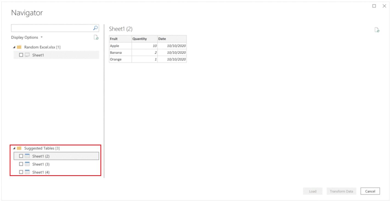 Detección de tablas Excel